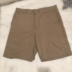 Greg Norman Khaki Flat Front Golf Athletic Shorts